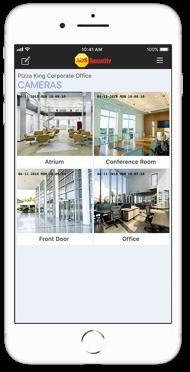 Smart Cameras Views on Mobile App