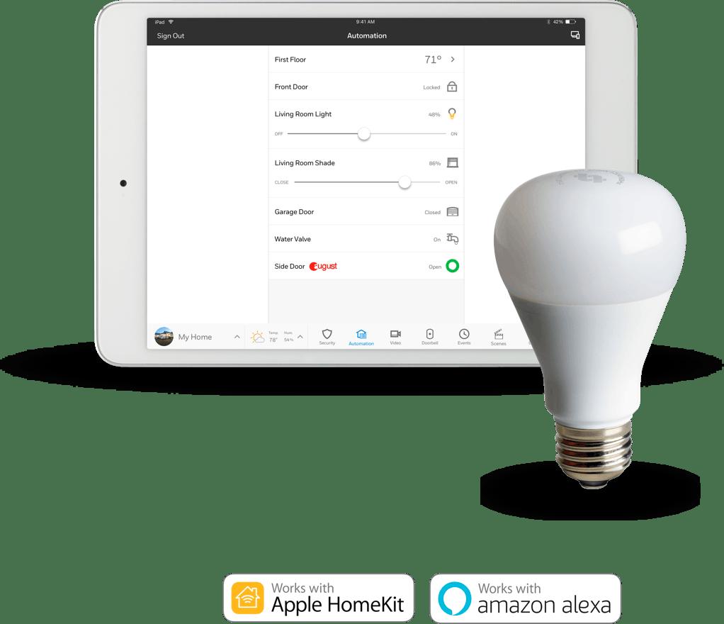 Smart Security Lightbulbs App
