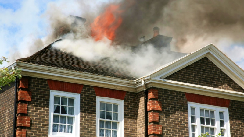 Home fire in birmingham, al
