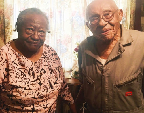 He's 103. She's 102. They've been ADS Security customers for more than 20 years!